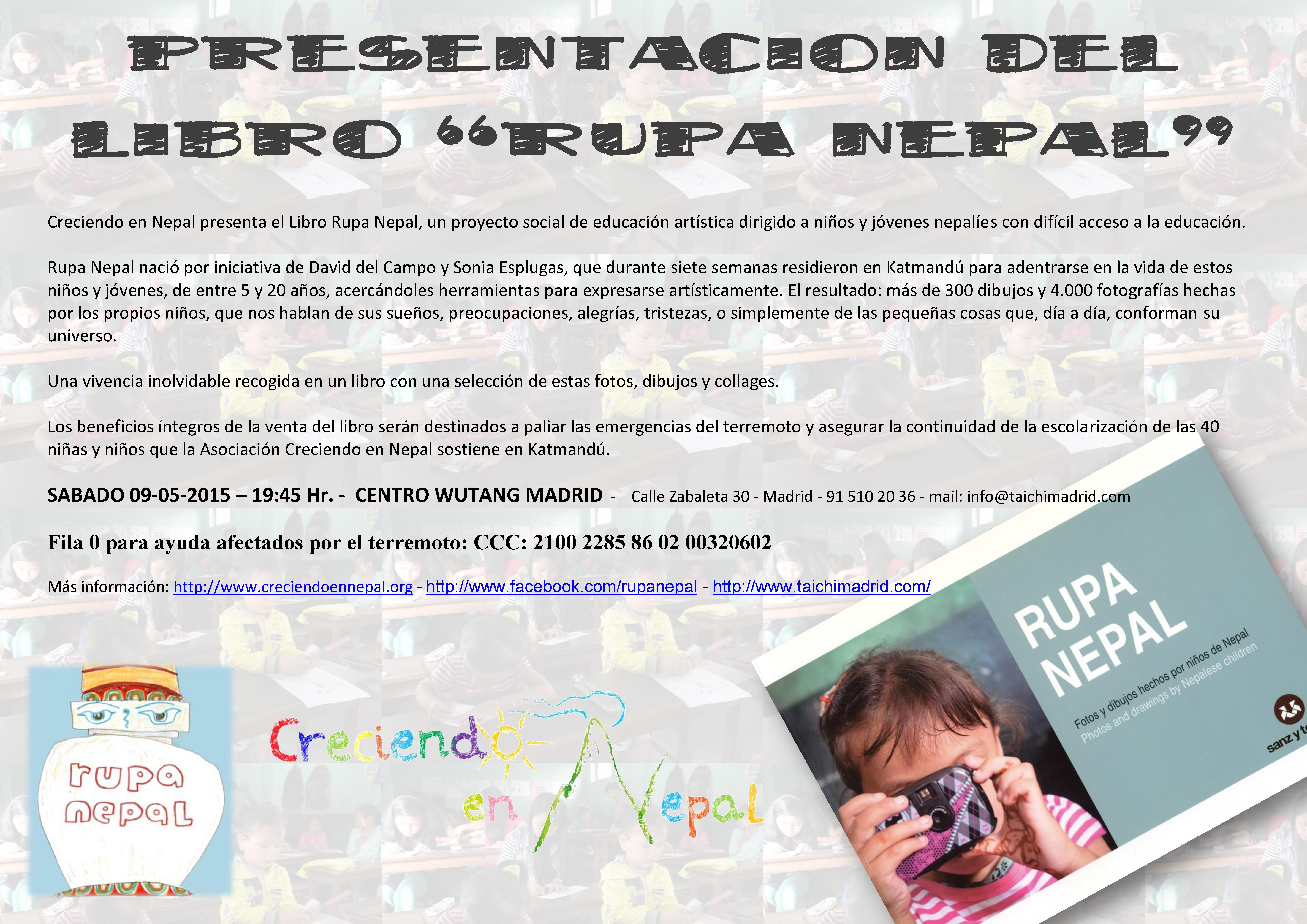 Cartel Presentación Wutang Madrid